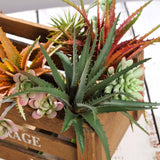 "Set of 3 | 12"" Multi Colored Artificial Succulent Plants"