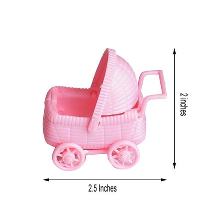 12 Pack Pink Baby Carriage for Baby Shower Favor Jars - Clearance SALE