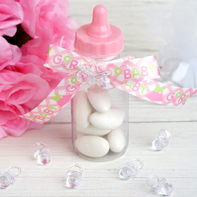 144 Pack Clear Small Baby Pacifiers for Baby Shower Favor Decor