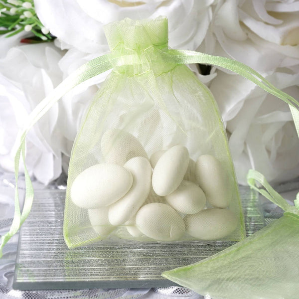 "Pack of 10 | 3""x4"" Mint Organza Drawstring Pouch Candy Favor Bags 