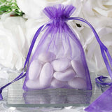 "3 x 4"" Purple Organza Bags"