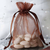 "4 x 6"" Chocolate Organza Bags"
