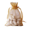 "Pack of 10 | 4""x6"" Gold Organza Drawstring Pouch Candy Favor Bags 
