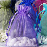 "10 Pack 5x7"" Organza Drawstring Candy Favor Bags - Rose Gold/Blush"
