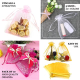 "Pack of 10 | 5""x7"" Champagne Organza Drawstring Pouch Candy Favor Bags 