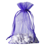 "Pack of 10 | 6""x9"" Purple Organza Drawstring Pouch Candy Favor Bags 