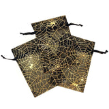 "4"" x 6"" Spider Themed Organza Bags - 10/pk - Black"