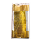 4x9 Gold Cellophane Bags, Metallic Banded Favor Bags, Candy Bags