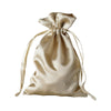 "12 Pack | 4""x6"" Champagne Satin Party Favor Bags 