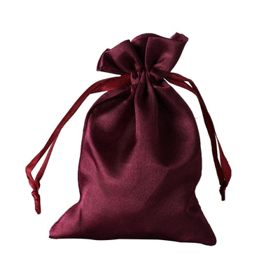 "12 Pack | 4""x6"" Eggplant Satin Party Favor Bags 