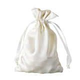 "12 Pack | 4""x6"" Ivory Satin Favor Bags Party Drawstring Pouches"