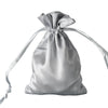 "12 Pack | 4""x6"" Silver Satin Party Favor Bags 
