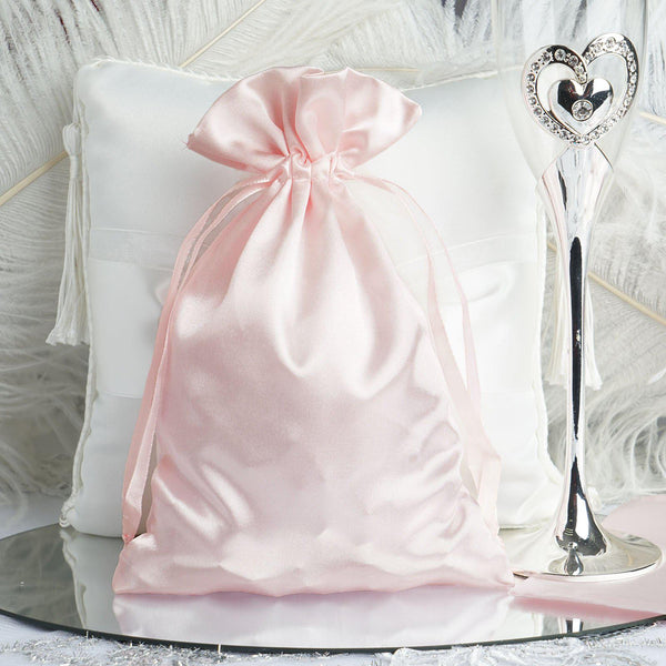 "Pack of 12 | 6""x9"" Satin Party Favor Bags 