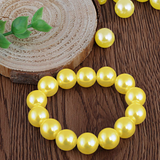 1000 Pack 10mm Yellow Faux Pearl Beads Vase Fillers