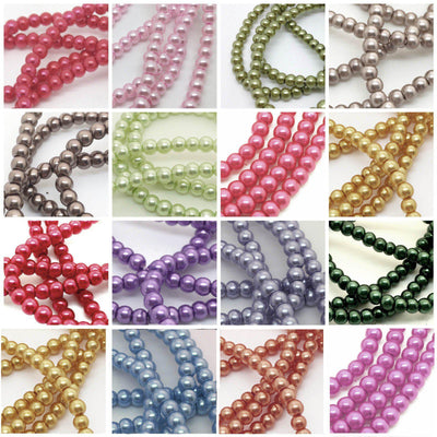 1000 Pack 10mm Champagne Faux Pearl Beads Vase Fillers