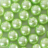 120 Pack | 20mm | Tea Green Faux Pearl Beads Vase Fillers