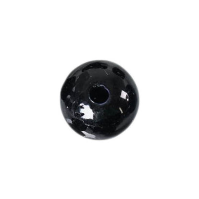 30mm | 35 Pack Black Faux Pearl Beads Vase Fillers