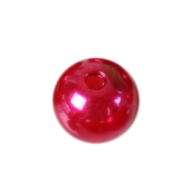 30mm | 35 Pack Red Faux Pearl Beads Vase Fillers