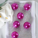 30mm | 35 Pack Fushia Faux Pearl Beads Vase Fillers