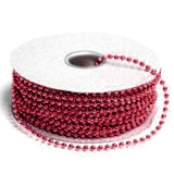 24 Yards 3mm Burgundy Faux Pearl Beads