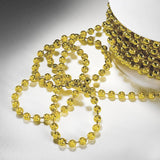 24 Yards 3mm Gold Faux Pearl Beads