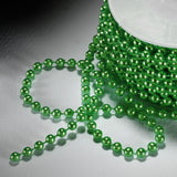 24 Yards 3mm Green Faux Pearl Beads