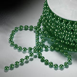 24 Yards 3mm Hunter Green Faux Pearl Beads