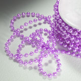 24 Yards 3mm Lavender Faux Pearl Beads