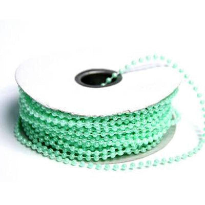 24 Yards 3mm Mint Faux Pearl Beads