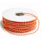24 Yards 3mm Orange Faux Pearl Beads