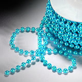24 Yards 3mm Turquoise Faux Pearl Beads