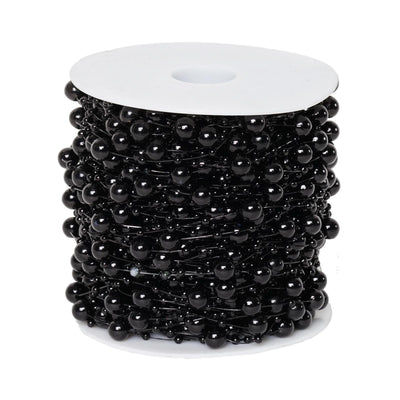 62 FT Black Pearl Garland String for Wedding Bridal Corsages Decorations