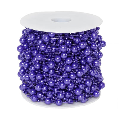 62 FT Purple Pearl Garland String for Wedding Bridal Corsages Decorations