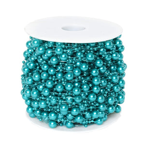 62 FT Turquoise Pearl Garland String for Wedding Bridal Corsages Decorations