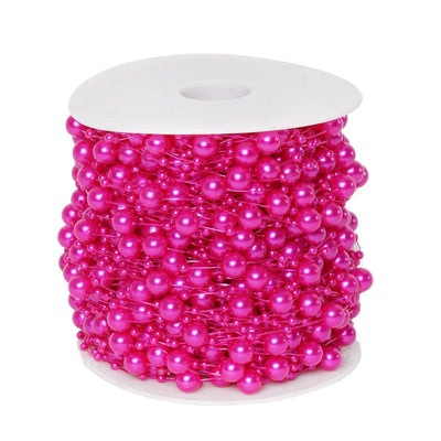 62 FT Fushia Pearl Garland String for Wedding Bridal Corsages Decorations