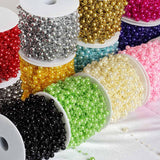 62 FT Charcoal Pearl Garland String for Wedding Bridal Corsages Decorations