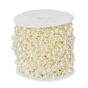 62 FT Ivory Pearl Garland String for Wedding Bridal Corsages Decorations