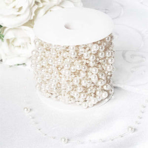 62 FT White Pearl Garland String for Wedding Bridal Corsages Decorations