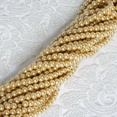 9 YARD 8mm Faux Pearl Bead Strands Garland Wedding Party Table Top Decoration - Champagne - 10 Strands