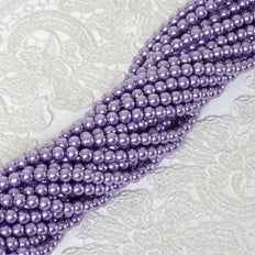 9 YARD 8mm Faux Pearl Bead Strands Garland Wedding Party Table Top Decoration - Lavender - 10 Strands