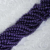 9 YARD 8mm Faux Pearl Bead Strands Garland Wedding Party Table Top Decoration - Purple - 10 Strands