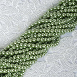 9 YARD 8mm Faux Pearl Bead Strands Garland Wedding Party Table Top Decoration - Tea Green - 10 Strands