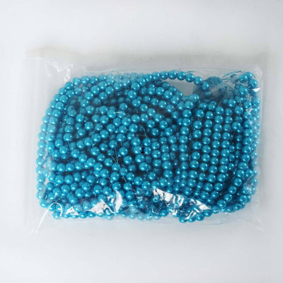9 YARD 8mm Faux Pearl Bead Strands Garland Wedding Party Table Top Decoration - Turquoise - 10 Strands
