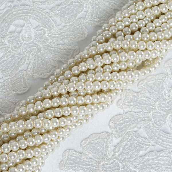 10 Pack | 8mm Large Ivory Faux Pearl Beads