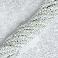 9 YARD 8mm Faux Pearl Bead Strands Garland Wedding Party Table Top Decoration - White - 10 Strands