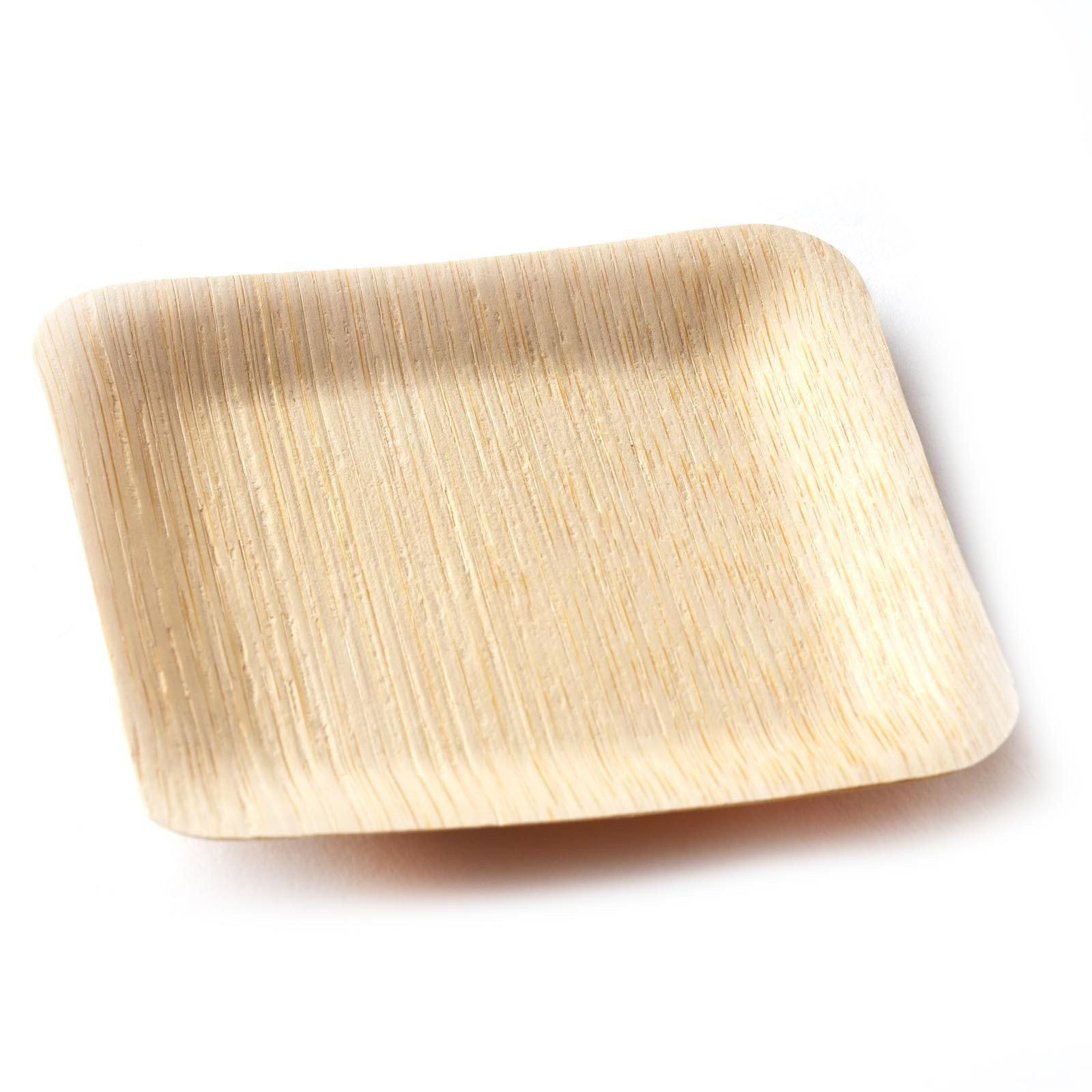 ... 25 Pack - Sleek Bamboo 3.5\  Square Plates ...  sc 1 st  Tablecloths Factory & 25 Pack 4\