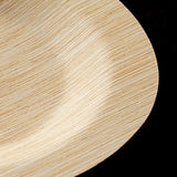 "10 Pack 11"" Sleek Bamboo Disposable Round Dinner Plates"