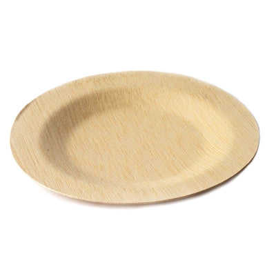 "10 Pack - Sleek Bamboo 9"" Round Plates"