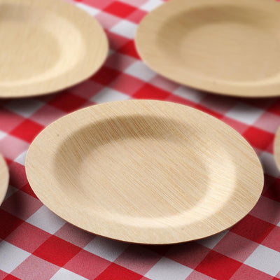 10 Pack - 7 inch Eco Friendly Sleek Disposable Round Salad Dessert Plates