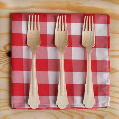 100 Pack - Au Natural Birch Wood Fork